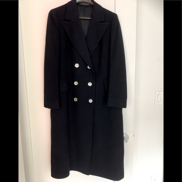 W's Brooks Brothers full length cashmere  coat
